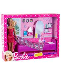 barbie sweet bedroom set with doll multi coloured online india buy barbie bedroom set barbie bedroom furniture