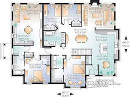 Multi family plan W detail from DrummondHousePlans com    st level Spacious multi generational home   bedrooms in main unit   Angeline