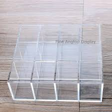 Clear acrylic cosmetic organizer tray lipstick display stand holder 41 ...