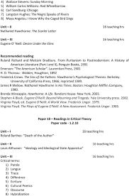 new syllabus course of study for postgraduate english ravenshaw from puritanism to postmodernism a history of american literature part i and ii