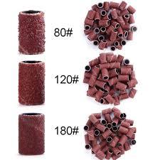 50/<b>100Pcs 80# 120# 180</b># Electric <b>Nail</b> Drill Milling Machine ...