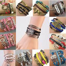 NEW <b>Jewelry</b> Women's <b>Fashion</b> Leather Cute Infinity <b>Charm</b> ...