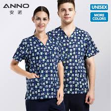<b>ANNO</b> Print <b>Medical Scrub</b> Cartoon Nursing <b>Uniform Scrub</b> Suit ...