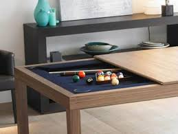 kitchen room pull table: pool table hidden under kitchen table top