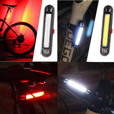 <b>USB Rechargeable</b> 5LED 3 Mode Bike Bicycle Cycling Front Rear ...