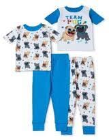 <b>Pug Dog</b> Love Footed Pajamas Long Sleeve 100% Cotton Onesie ...