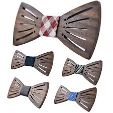2017 Carving Wooden Bow Tie Accessories Creative Wood Butterfly ...