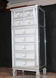 art deco mirror chest drawers tall boy mirrored furniture ebay art deco mirrored furniture