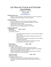 format of resume for job application to
