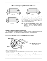 msd ignition wiring diagrams msd 6 series to gm 4 5 or 7 pin hei modules