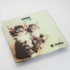 <b>Напольные весы Delta D</b>-<b>9228</b> Котята, электронные, мультиколор