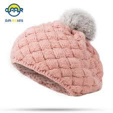 DMROLES <b>2019</b> New Baby Winter <b>Hat</b> Knit Crochet Baby <b>Beret</b> Girl ...