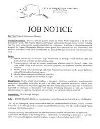 three additional job postings for city and borough of yakutat ak 2014 jobs available cby page 4 property maintenance manager