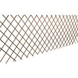 Festnight <b>5 Pcs</b> Expanding Willow <b>Trellis Fence</b> Wood Garden ...