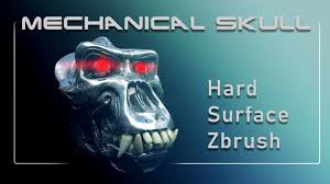 000 <b>Mechanical Skull</b> - Hard Surface ZBrush Intro - YouTube