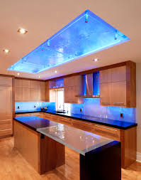 kitchen example of a trendy kitchen design in ottawa with an undermount sink flat panel cabinets amazing 20 bright ideas kitchen lighting