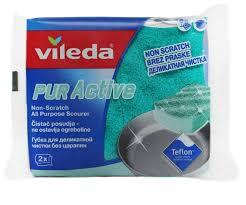 <b>Губка для посуды</b> Vileda Пур Актив 2 шт — купить по выгодной ...