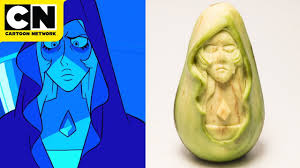Blue <b>Diamond</b> Avocado Carving | Steven Universe | <b>Cartoon</b> Network