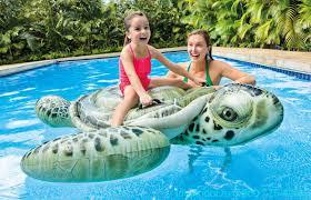 <b>Игрушка надувная</b> детская <b>Морская</b> Черепаха 191х170 см <b>Intex</b> ...