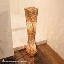 natural rattan screw lamp 100 cm asian lighting asian asian light stand light stand lighting floor light floor stand lighting lights asian lighting