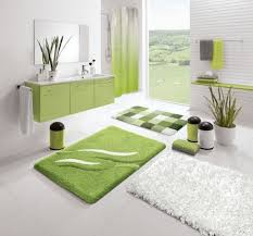 simple designs small bathrooms decorating ideas: gorgeous green and white themed small bathroom decoration corner bathroom shower green fur rug green