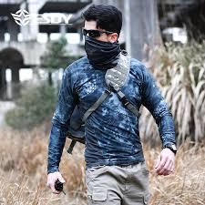 <b>ESDY New</b> Fashion Camouflage T-Shirt Tight <b>Men</b> Quick Dry Camo ...