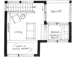 Couple Living in  Square Foot Small House By Smallworks StudiosSecond Level Floor Plan of Small House