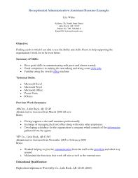 resume for front desk receptionist hotel front desk job  resume