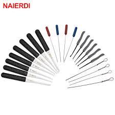<b>NAIERDI Practice Lock</b> Pick Set Transparent Visible Copper ...