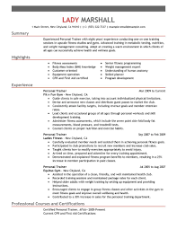 personal trainer resume sample  personal care resume examples  job    personal trainer resume sample