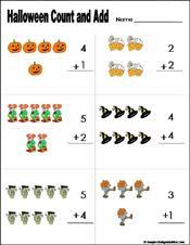 Preschool and Kindergarten Halloween Math WorksheetsPreschool and kindergarten halloween math worksheet