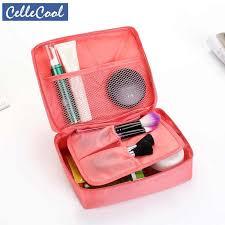CelleCool <b>Solid</b> color <b>Cosmetic Bag</b> Women Makeup Bags <b>Toiletries</b> ...