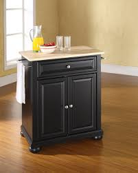 Crosley Kitchen Cart Granite Top Crosley Furniture Alexandria Natural Wood Top Portable Kitchen
