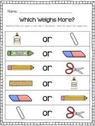 1000+ ideas about Measurement Kindergarten on Pinterest ...Kindergarten Measurement: Comparing two objects in Weight