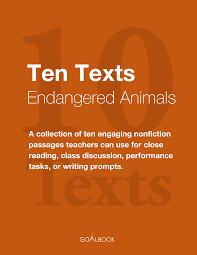 ten informational texts endangered animals goalbook pathways enlarge