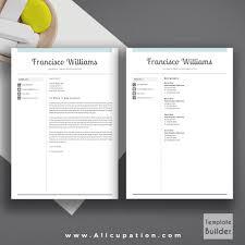 creative resume template modern cv template word cover letter allcupation professional resume template cv template 1 2 and 3 page resume