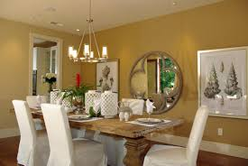 Mirrors For Dining Room Walls Images Yellow Painted Wall Dining Room With Round Textured Dining