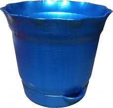 <b>Горшок</b> д/цветов с поддоном Aquarelle D=14,0 1,0 Л. 902-25 Синий