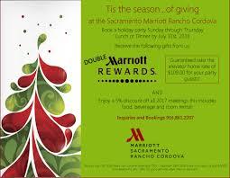 rancho cordova holiday party venue sacramento marriott rancho holiday promotion 2016
