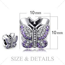 <b>Jewelrypalace 925</b> Sterling Silver <b>Butterfly</b> Murano Glass Beads ...