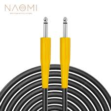 <b>NAOMI</b> 6.35mm Jack To 6.35mm 1/4 Angle Head Audio Aux Cable ...
