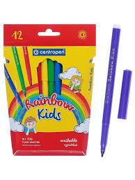 <b>Фломастеры</b> 12 цветов <b>Centropen</b> 7550/12 <b>Rainbow Kids</b> ...
