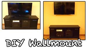 Hide Tv In Wall Wall Mount Tv Hide Wires Diy Flatscreen Wallmount How To