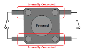 <b>Push Button</b>/Tactile <b>Switch</b> Pinout Connections, Uses, Dimensions ...