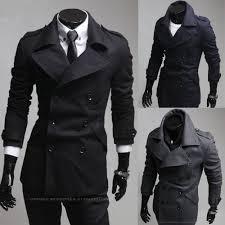 <b>2015 New Fashion</b> men Trench coat Korean Slim fit Business <b>casual</b> ...