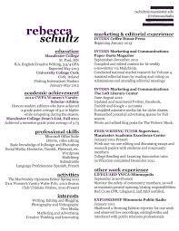 Creative Writing Resume Sample Example Creative resume  writer resume  entry level resume  marketing resume
