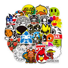 <b>100 Pcs Fashion</b> Brand Stickers for Lapto- Buy Online in Cape ...