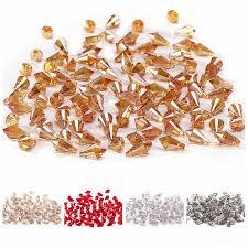 Silver AB <b>Color</b> 4mm 100pc Austria Crystal <b>Bicone Beads</b> 5301 ...