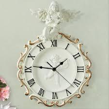 European Angel Art Wall Clock <b>Retro</b> Creative <b>Roman Numerals</b> ...