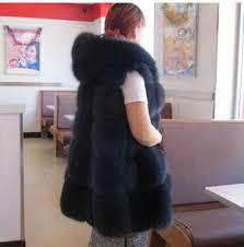 <b>2016 New</b> Fashion Long <b>Faux Fox</b> Mink Fur Vest With Hooded ...